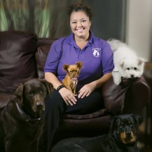 Pet sitter and her crew